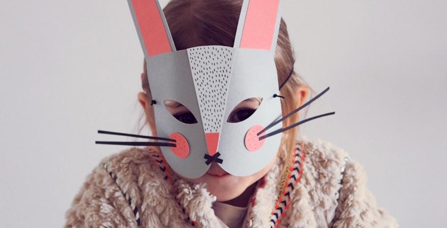 DIY: un masque lapin pour Carnaval