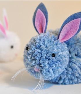 DIY: Un lapin de Pâques en pompon