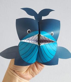 DIY Printable - La cocotte en papier baleine
