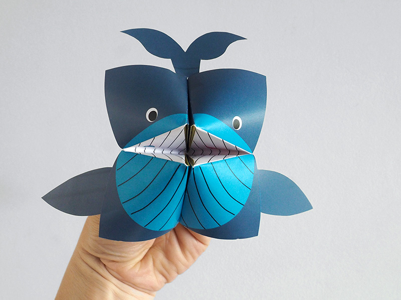 diy printable la cocotte en papier baleine cr ez avec votre enfant nos diy. Black Bedroom Furniture Sets. Home Design Ideas