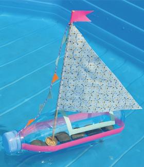 DIY - Un bateau à partir d'une bouteille d'evian