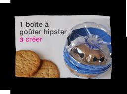 1 boîte à goûter hipster à créer