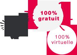 100% gratuite et 100% virtuelle