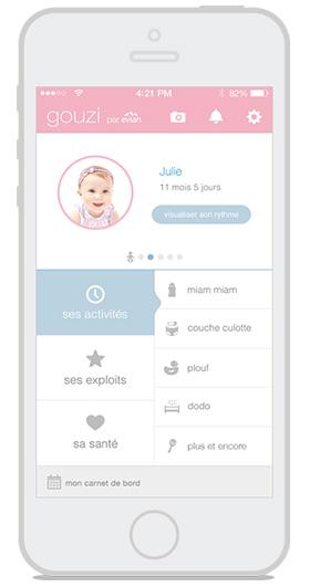 L'appli goozie qui aide les parents dans l'organisation de la vie autour de bébé